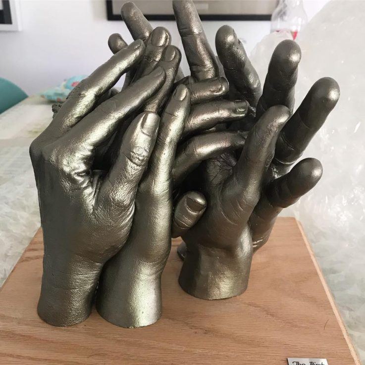 holding hand family hand cast