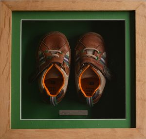 Baby's First Shoes - Mounted & Framed