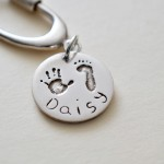Hand and foot print - personalised silver charm jewellery