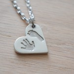Hand and foot print - personalised silver jewellery