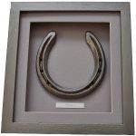 Horse gift - horseshoe framed in deep box frame