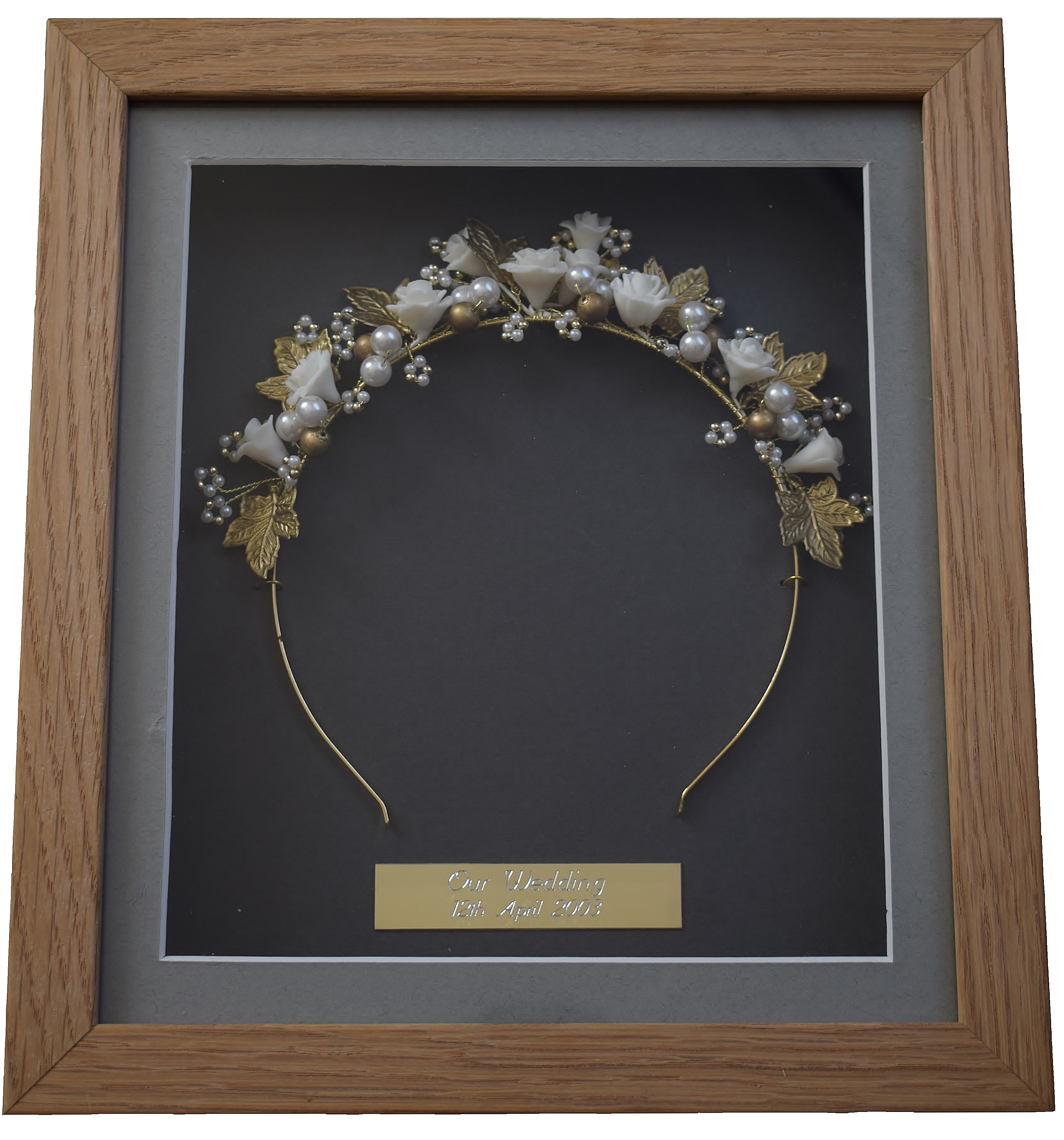 War Medal Framing Babies 1st Shoe Framed Wedding Tiara