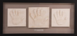 siblings clay hand print impressions