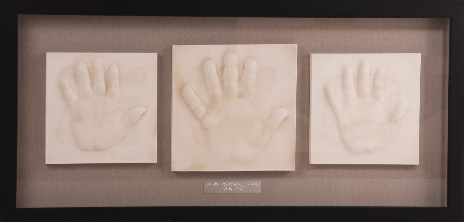 Multiple Hand Prints Framed