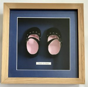 Babies 1st shoes framed