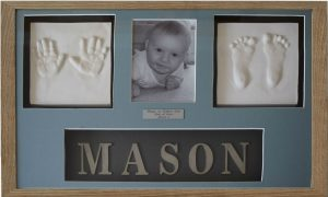 New Baby hands and feet clay prints with photo and name