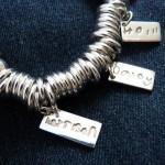 Sweetie Bracelet - personalised silver charm jewellery