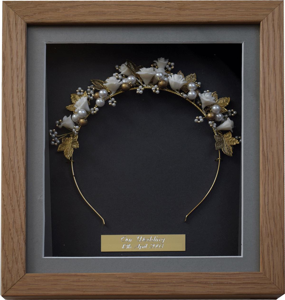 Bride's Wedding tiara Framed