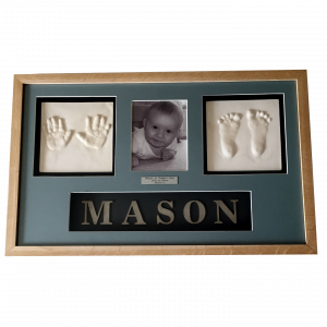 baby frame clay hands and feet - square