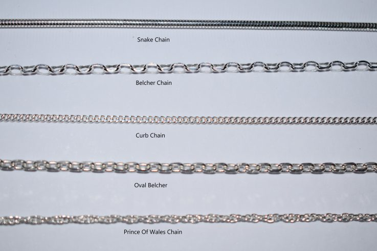 silver chains for personalised jewellery