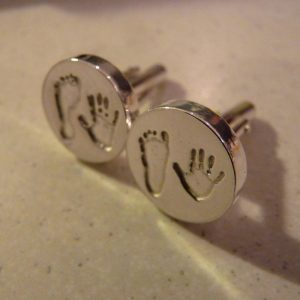 Hand/Footprint Cufflinks