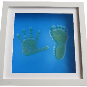 personalised pop art hand and foot in a box frame