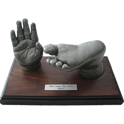 Hand and Foot Life Cast on Base