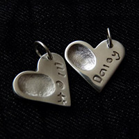 Personalised Silver Charms with Fingerprint