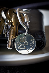 Dog Paw Print on Keyring