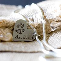 Paw Prints in silver