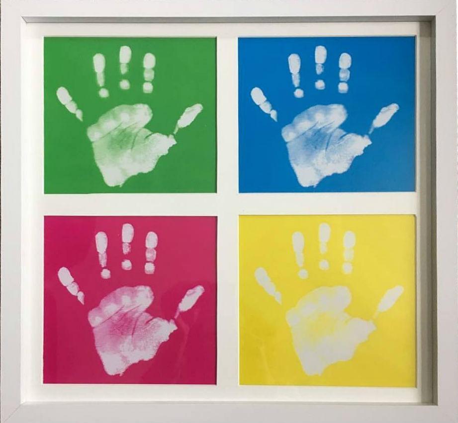 Personalised pop art print framed