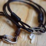 half charm bracelet - personalised silver jewellery